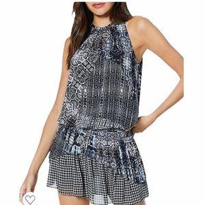 NWT Ramy Brook Monae Printed Popover Dress Mini